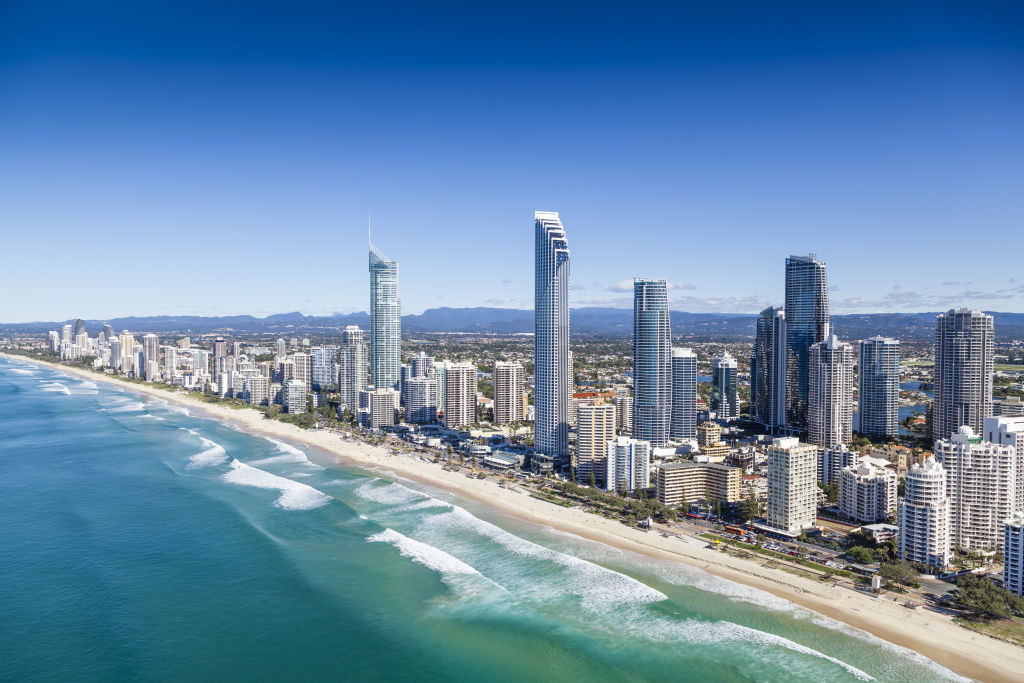 Aerial view of Gold Coast, Queensland