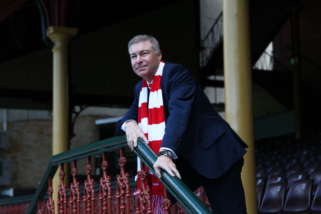 Sydney Swans president Andrew Pridham at the SCG. Photo by Peter Braig
