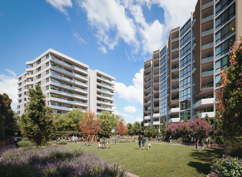 Proximity Rouse Hill_Communal open space render