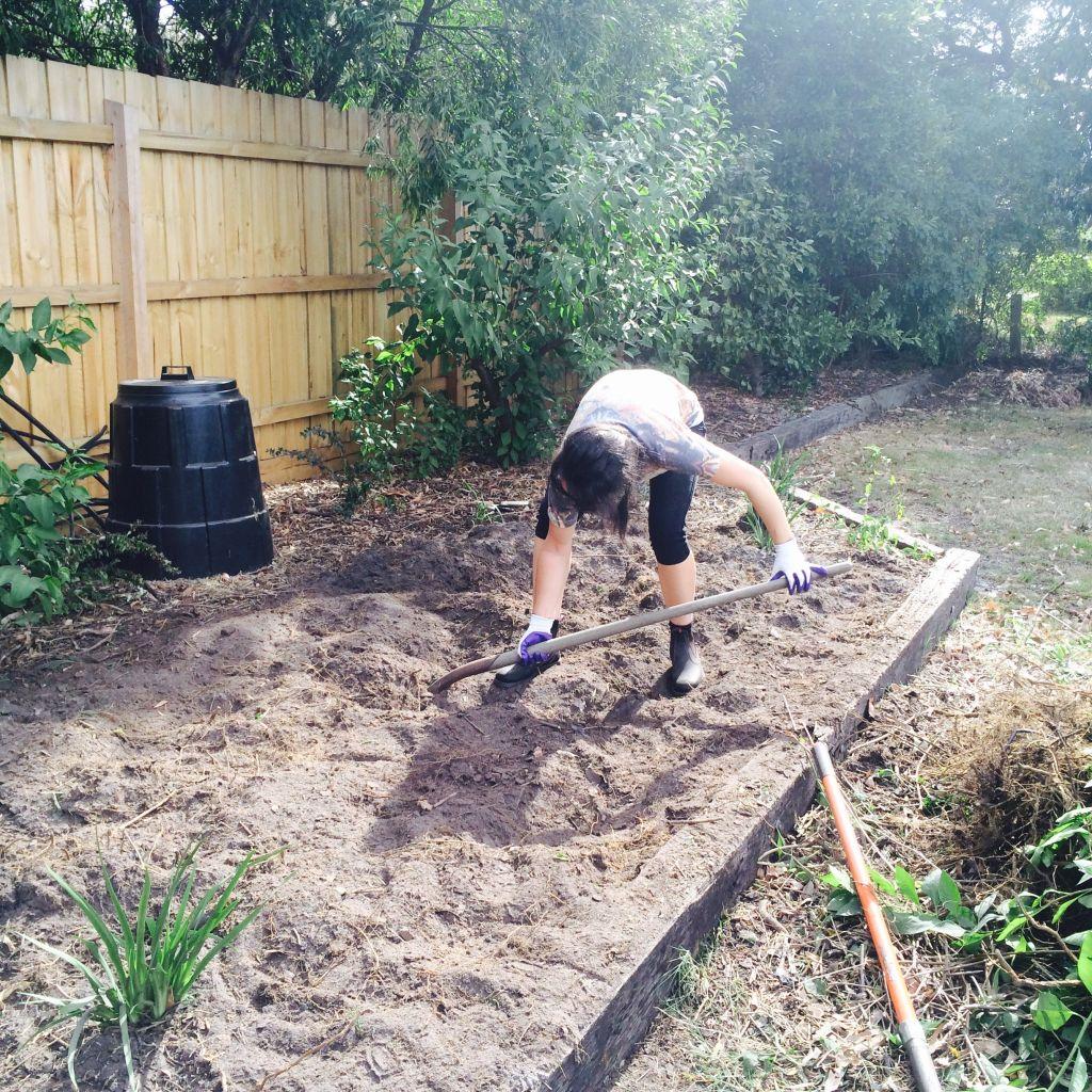 Belong Green Homes_Amy Hunt_Frankston backyard_Amy gardening
