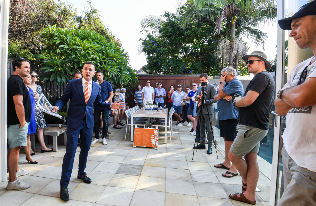 The auction of 21-23 Merton Street Rozelle.