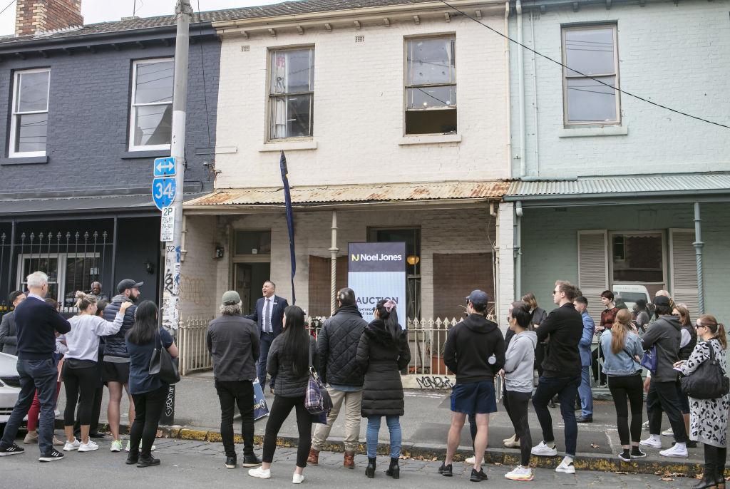 Auction of 438 Lygon Street, Carlton, Saturday April 17, 2021.