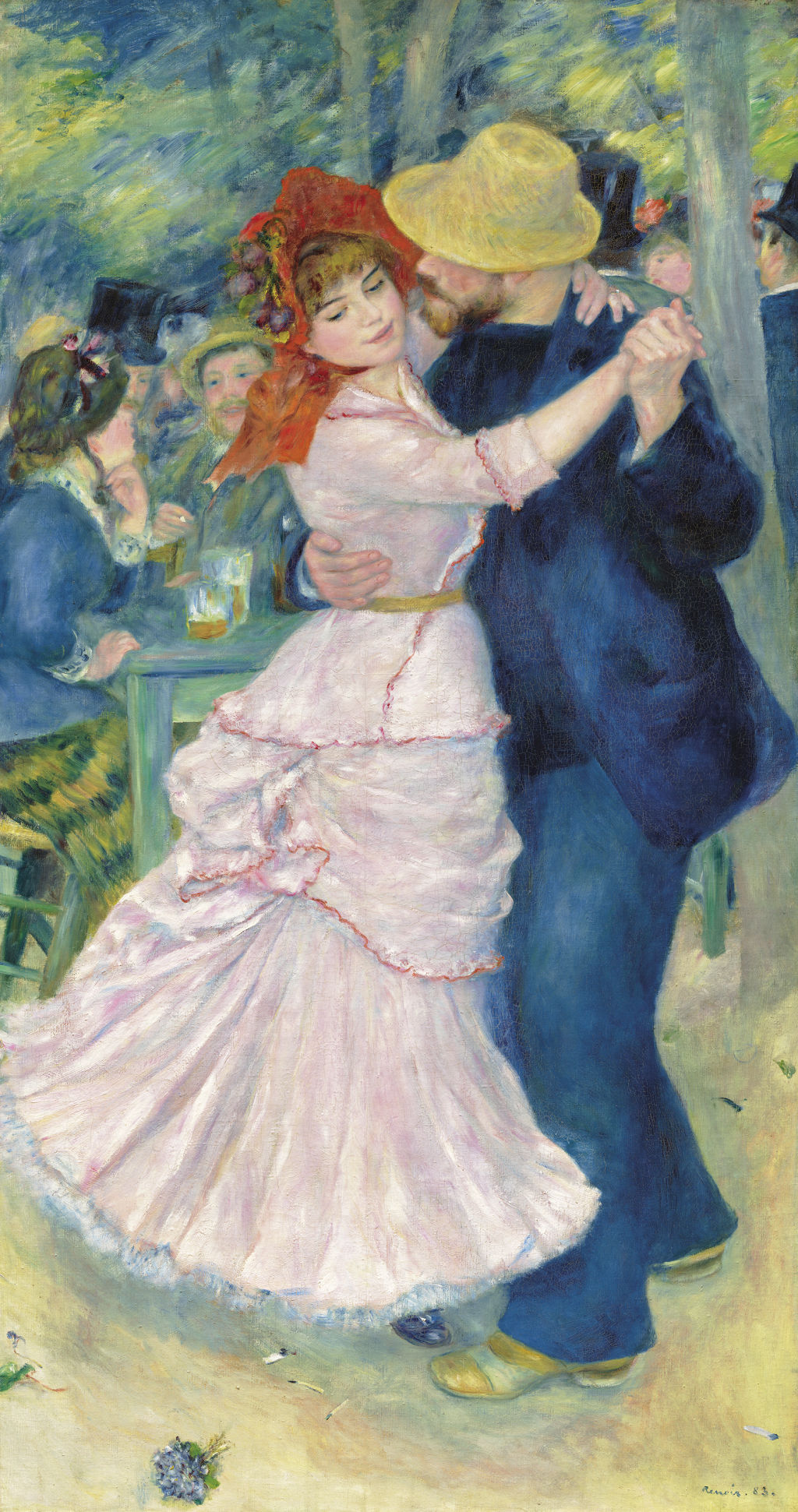 Pierre-Auguste Renoir   French 1841–1919  Dance at Bougival 1883   oil on canvas  181.9 x 98.1 cm