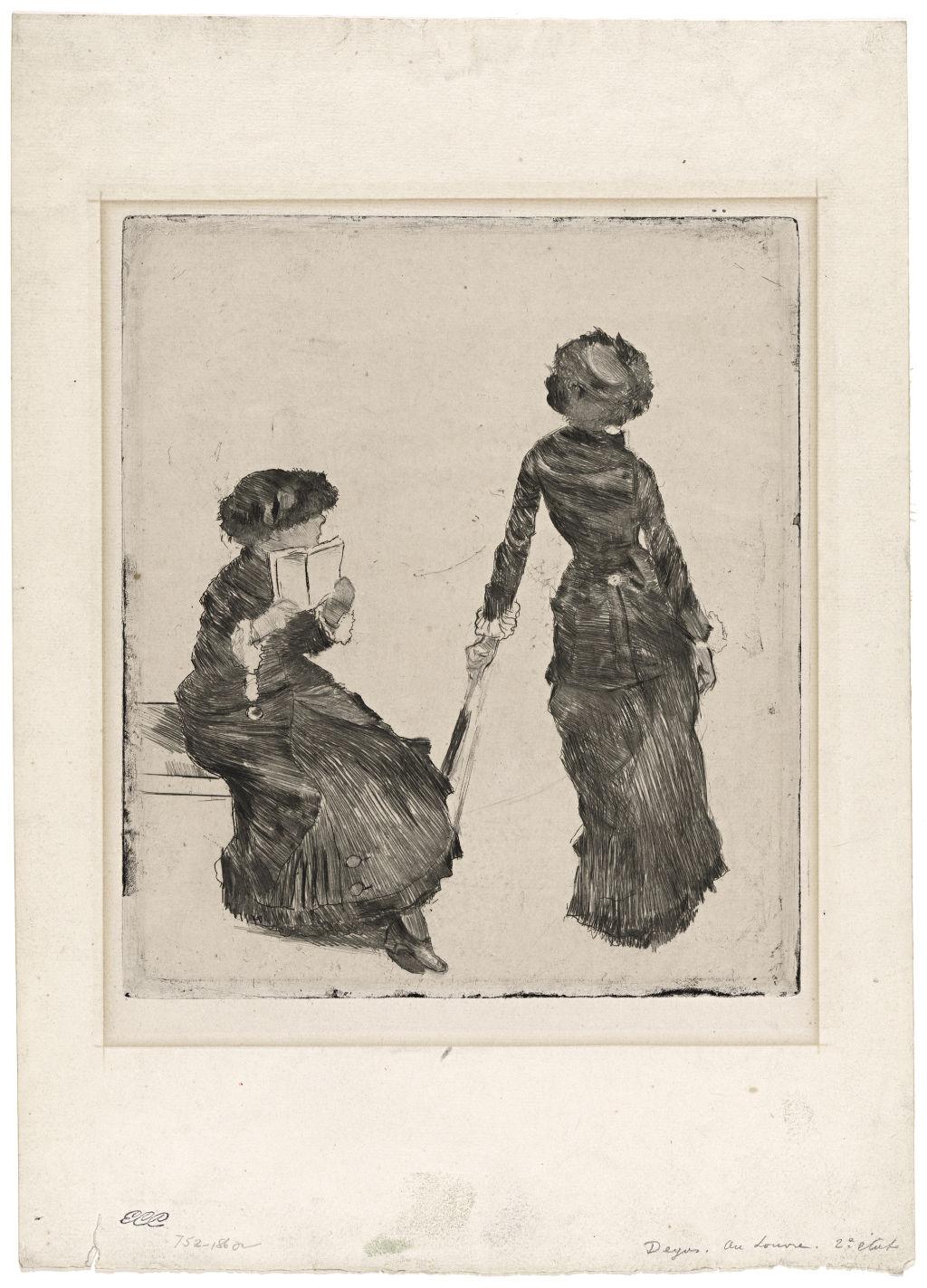 Edgar Degas   French 1834–1917  Mary Cassatt at the Louvre: The Etruscan Gallery 1879–80