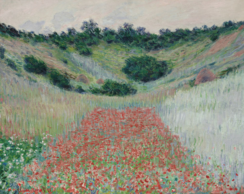 Claude Monet   French 1840–1926  Poppy field in a hollow near Giverny 1885  oil on canvas  65.1 x 81.3 cm