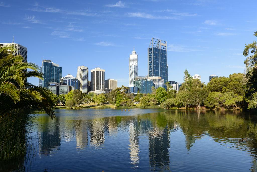 Downtown Perth city skyline