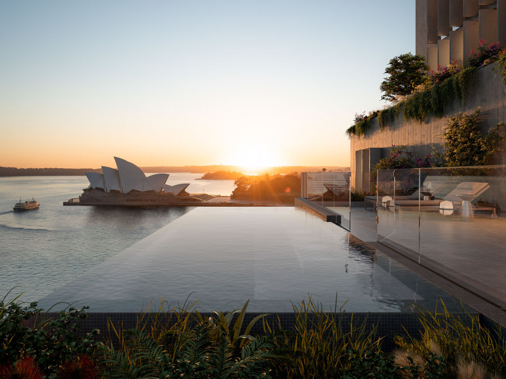 Artist's impression of $35 million penthouse in Sirius building at The Rocks