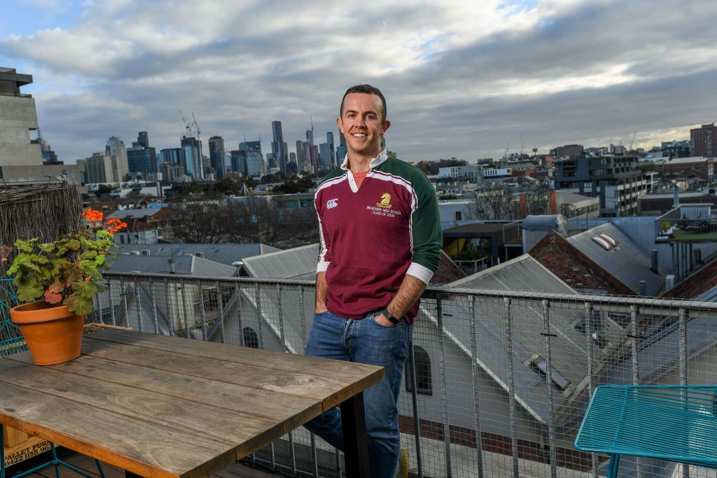 Rhys Cranney is moving to regional Victoria for tree change from Fitzroy. 29th July 2021 The Age News Picture by JOE ARMAO
