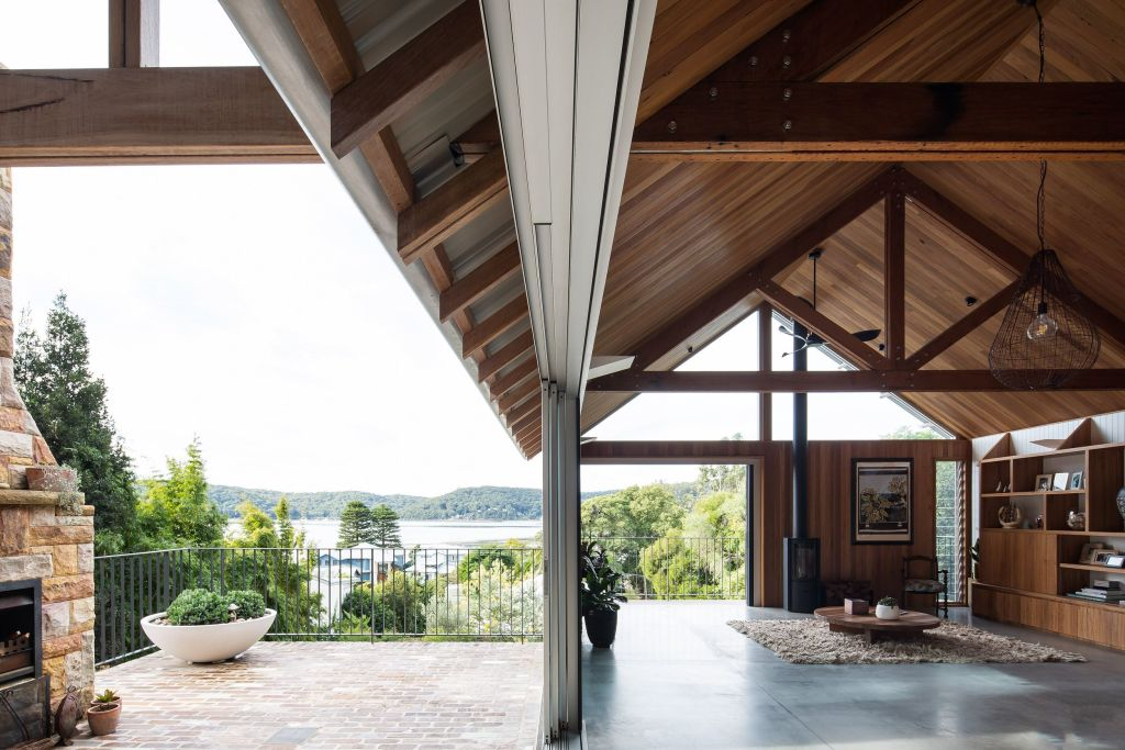 The first-level elevation of Wagstaffe House overlooks Brisbane Waters and looks well settled.