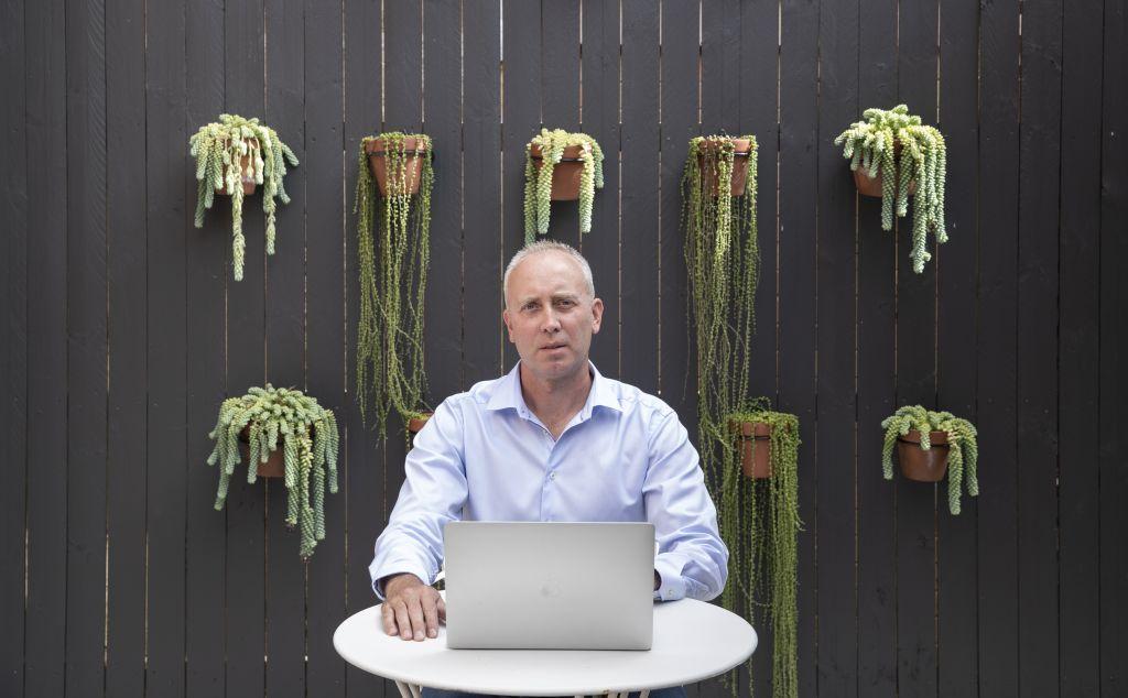 Michael Chetner, Australian Head of Zoom, in his Sydney home. 3rd June 2020 Photo: Janie Barrett