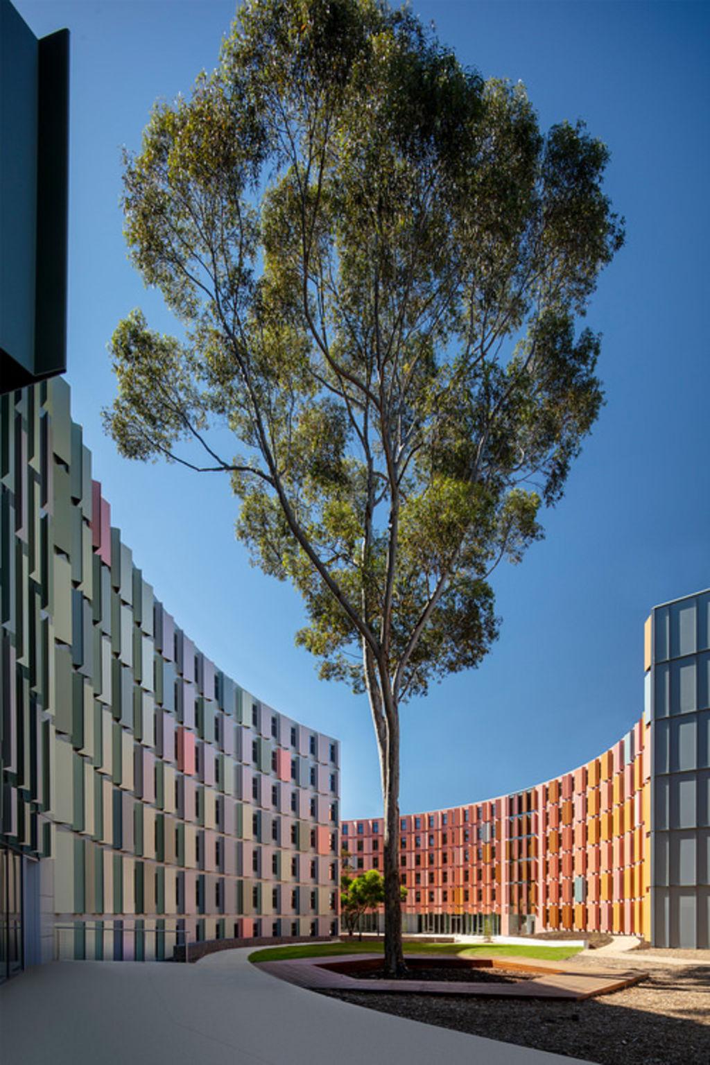 La Trobe University's north and south student accommodation apartments by JCB. Dezeen Awards.