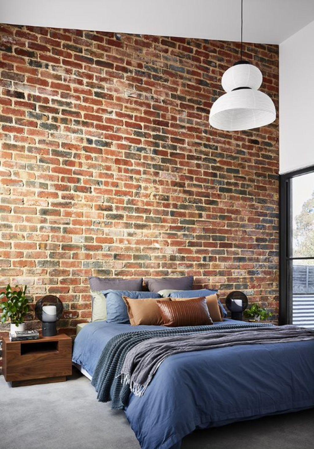 Pre-loved bricks make the master suite in a new build feel settled. Balnarring house.