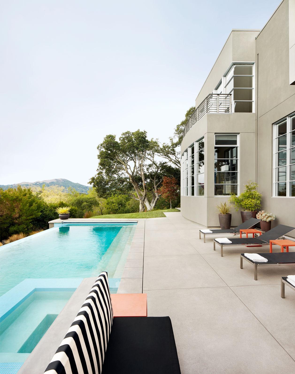 Beautiful luxury home with backyard swimming pool in California