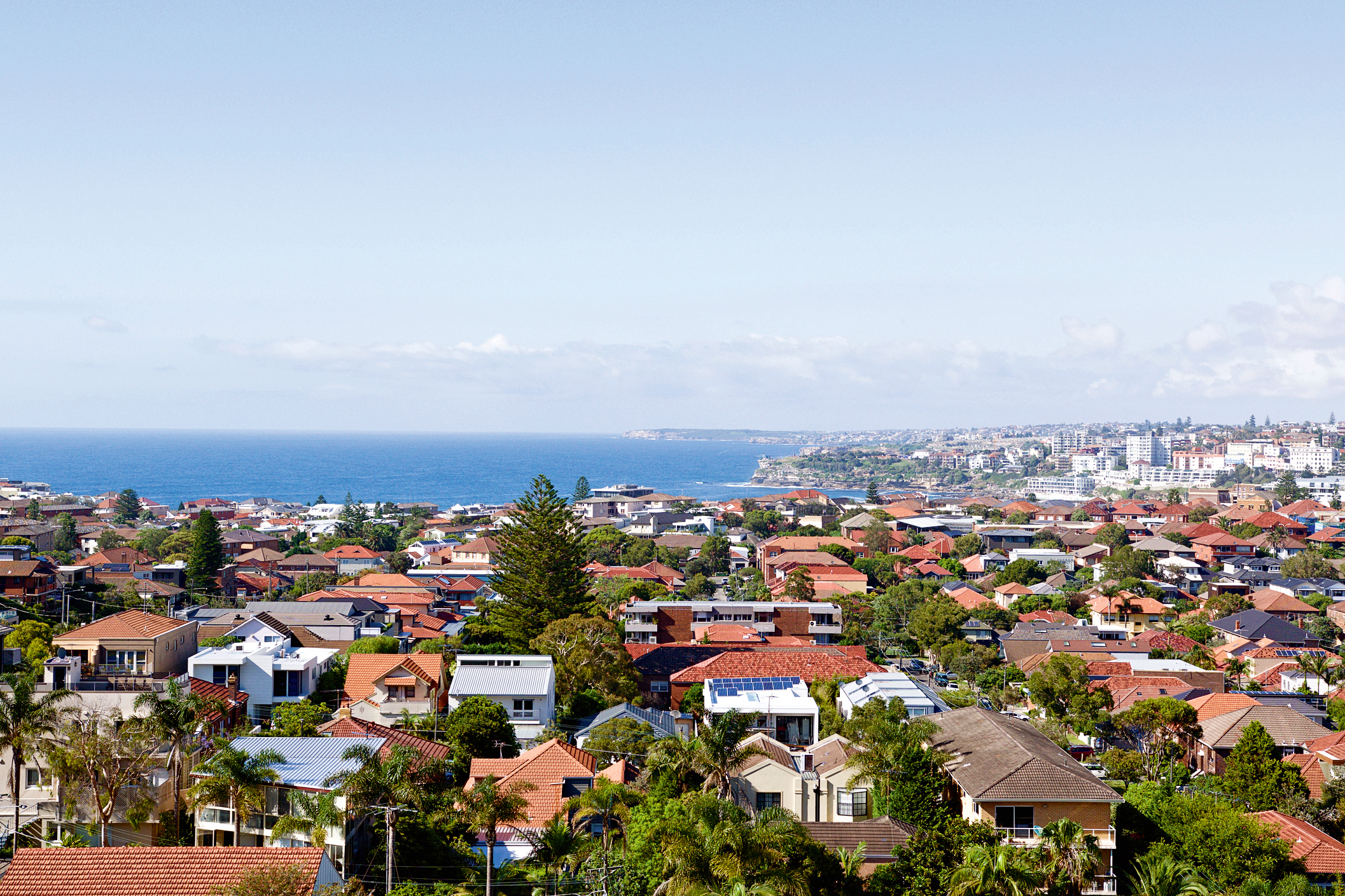 Houses in the eastern suburbs of Sydney