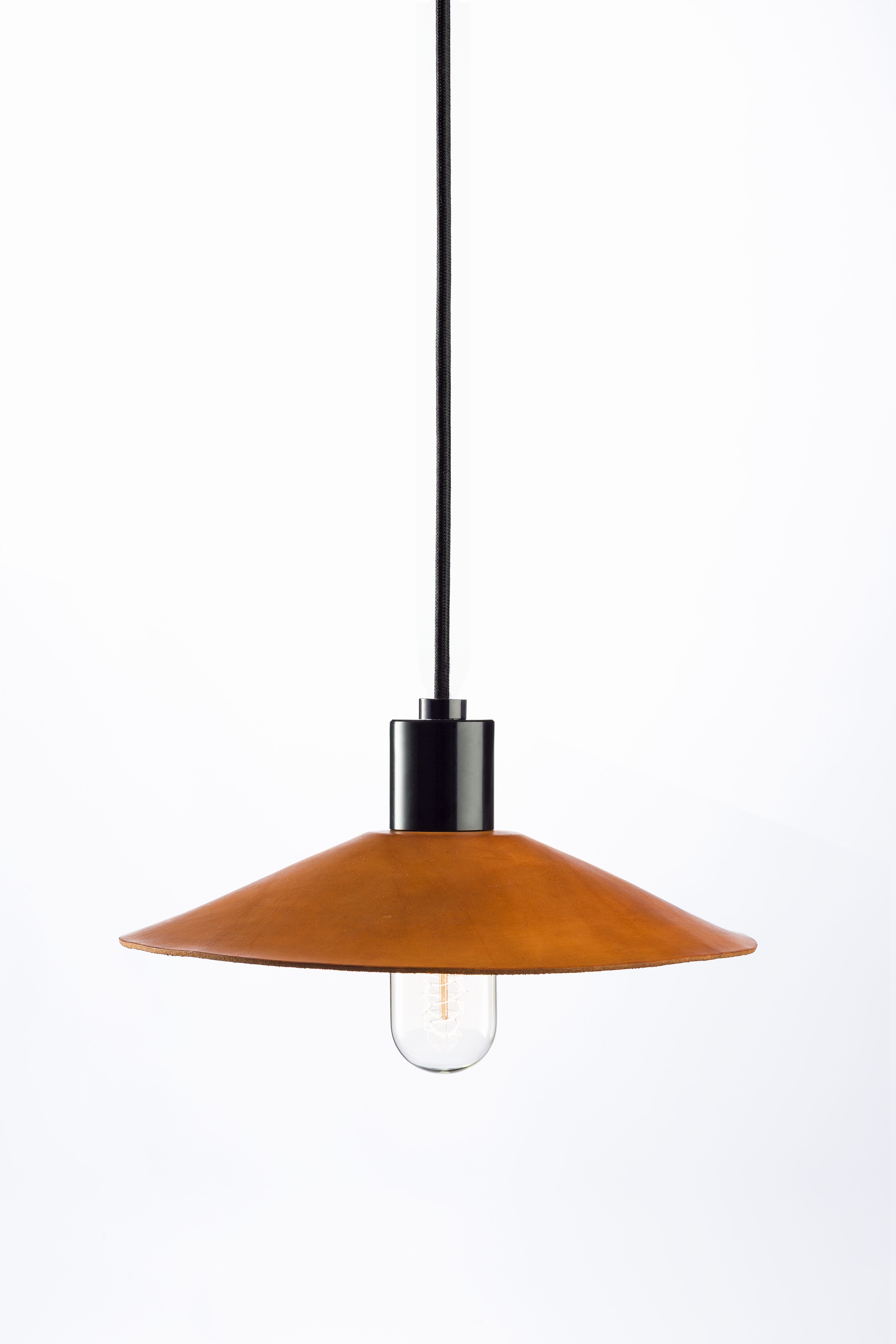 Hide Leather Pendant Light by Anaesthetic
