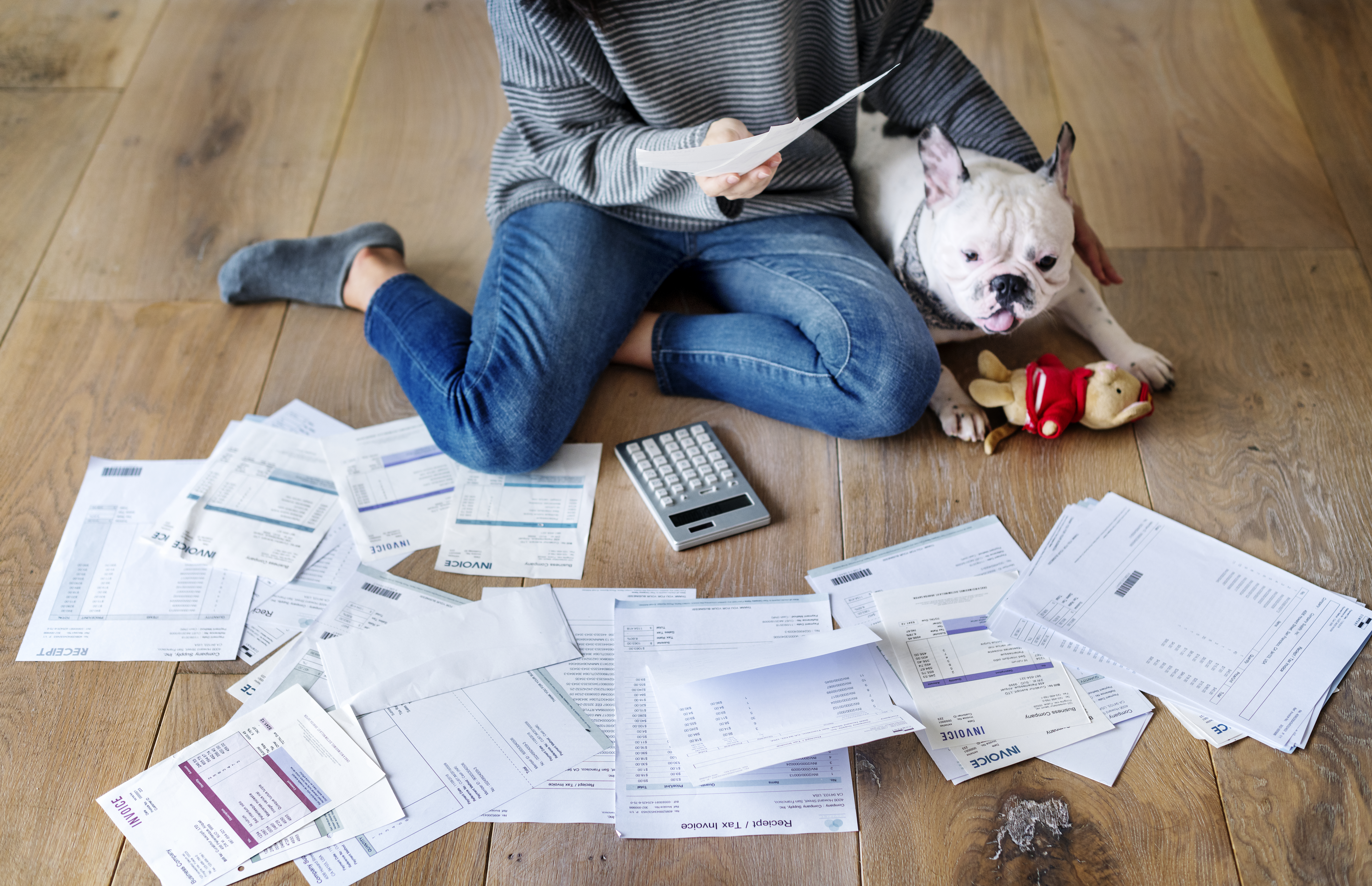 Generic image of person working on their finances