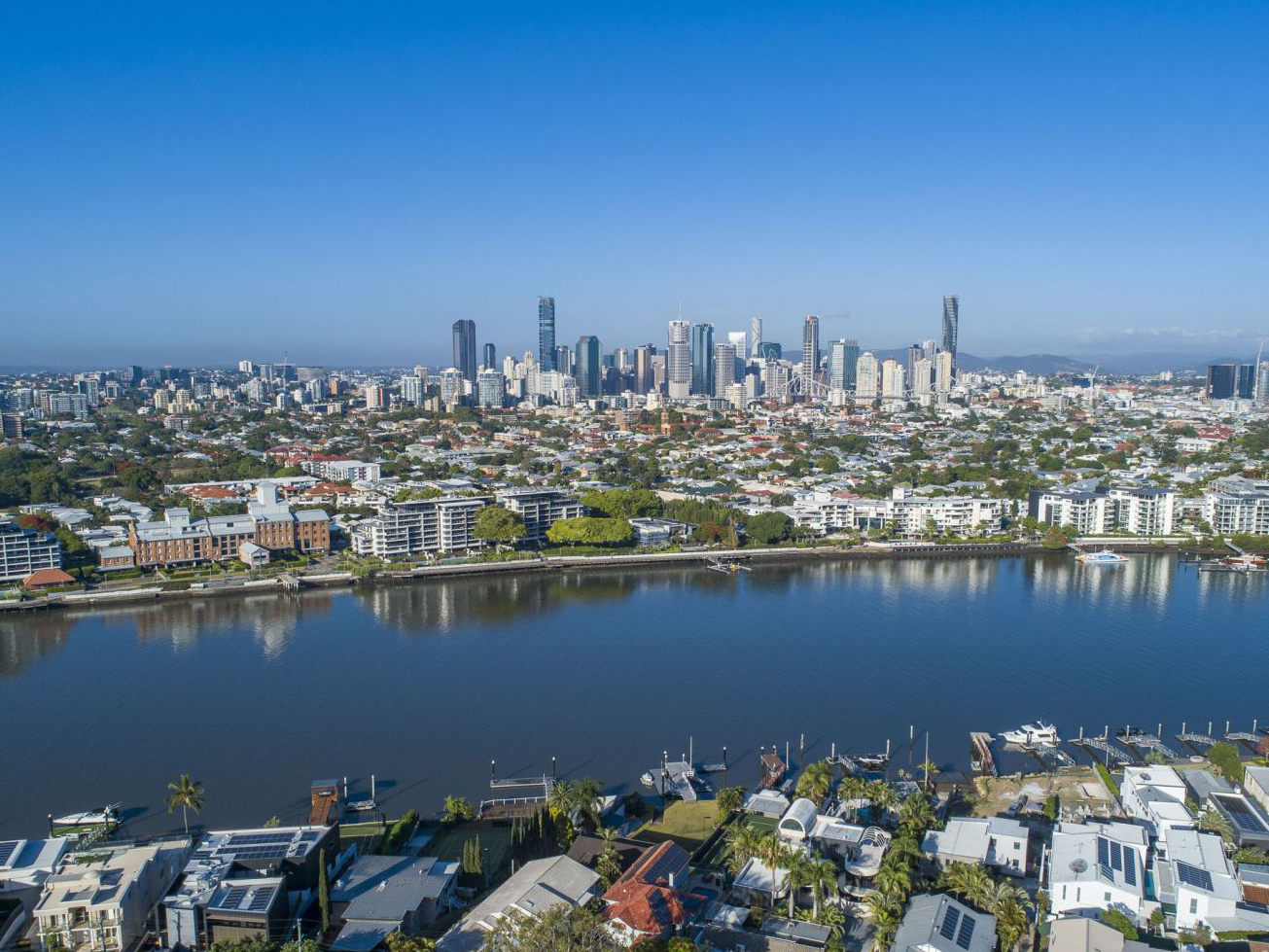 An aerial view of Hawthorne in Brisbane. Low res