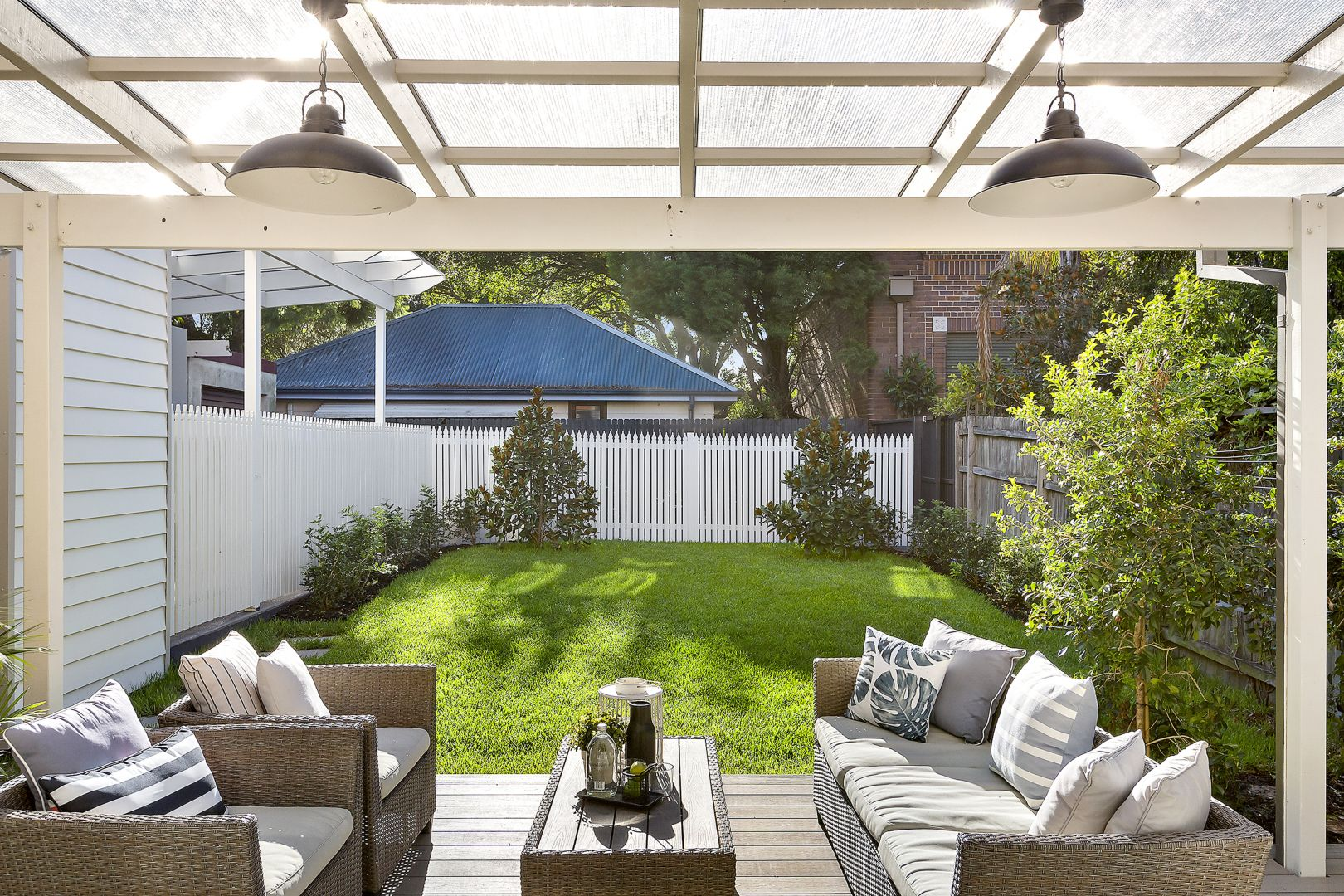 Even simple styling of outdoor areas increases appeal.