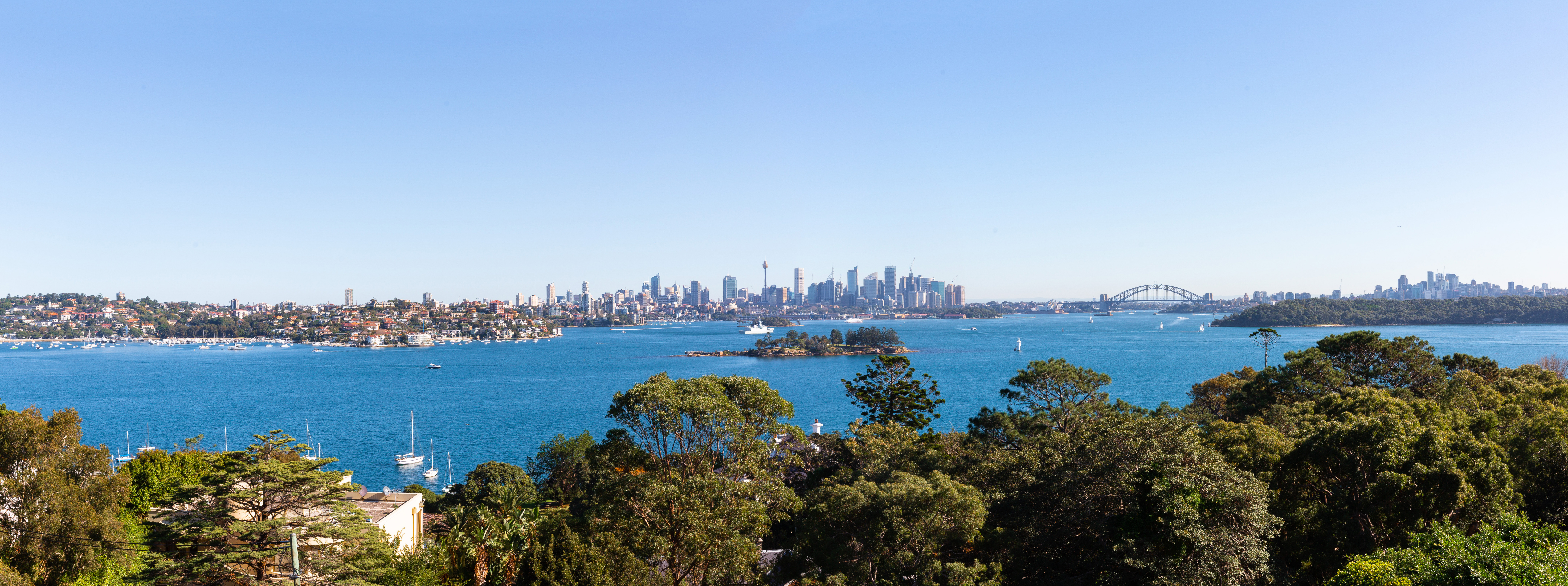View from John Landerer's 38a Wentworth Rd Vaucluse, next to 40 Wentworth rd la mer